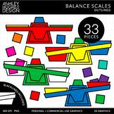 Balance Scales Clipart [Ashley Hughes Design]
