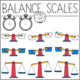 Balance Scales and Timer Clipart by Bunny On A Cloud