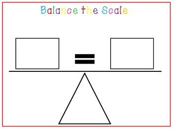Balance Scales printables