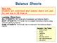 Balance Sheets - Finance - Business Studies - PPT & Tasks