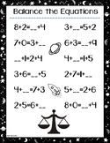 Balance Simple Equations