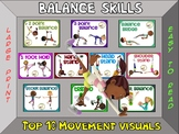 Balance Skills- Top 10 Movement Visuals- Simple Large Prin