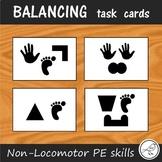Balancing Task Cards - Non-Locomotor skills for PE