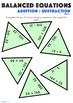 Balance The Equation Tarsia Puzzle: Addition & Subtraction - Grades 1 - 6 Bundle