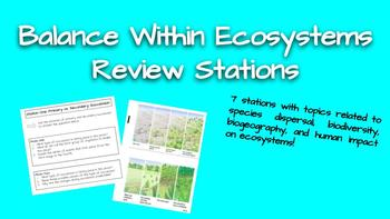 Balance Within Ecosystems Review Stations