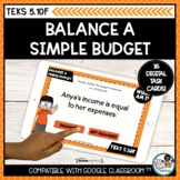 Balance a Simple Budget   Boom Cards Distance Learning