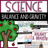 Balance and Gravity Activities and Interactive Notebook