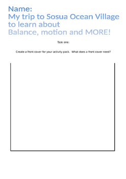 Balance and Motion Activity Pack