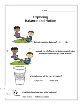 Balance and Motion FOSS Kit Assessment