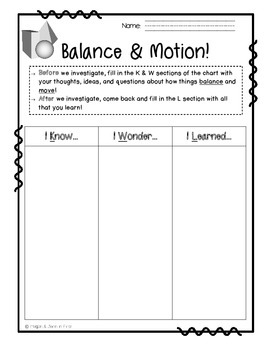 Balance and Motion Notebook Pack: Force, Friction, Magnets, Investigations
