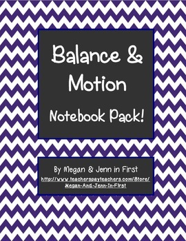 Balance and Motion Notebook Pack: Force, Friction, Magnets