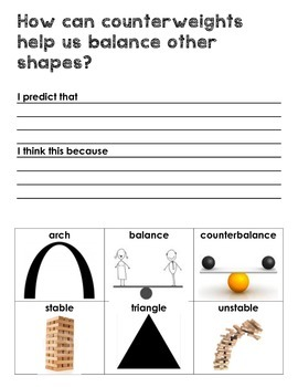 Balance and Motion Science Notebook