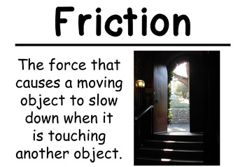 Balance and Motion Science Vocabulary Cards (FOSS Module Balance and Motion)
