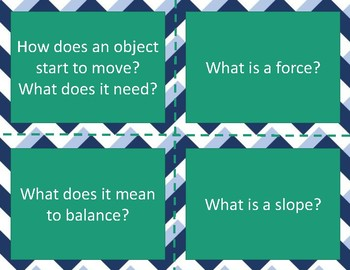 Balance and Motion Task Cards