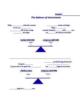 Balance of Government Read Along and Comprehension Check