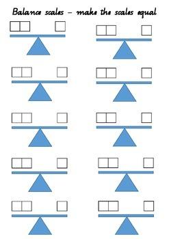 Balance scales addition