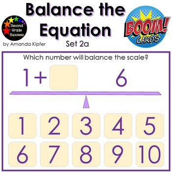 Balance the Equation Boom Cards Set 2a