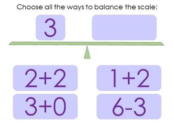 Balance the Equation Boom Cards Set 1b