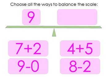 Balance the Equation Boom Cards Set 1c
