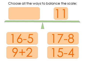 Balance the Equation Boom Cards Set 1e