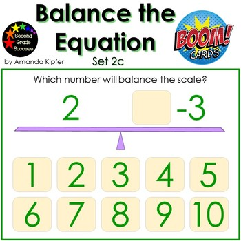 Balance the Equation Boom Cards Set 2c