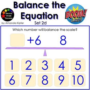 Balance the Equation Boom Cards Set 2d