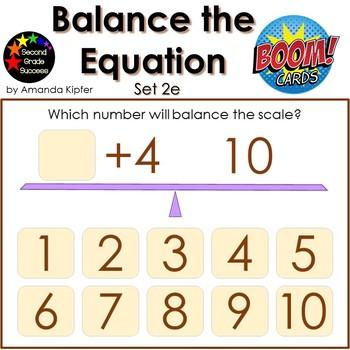 Balance the Equation Boom Cards Set 2e