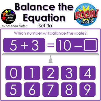 Balance the Equation Boom Cards Set 3a
