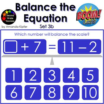 Balance the Equation Boom Cards Set 3b