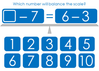 Balance the Equation Boom Cards Set 3c
