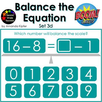 Balance the Equation Boom Cards Set 3d
