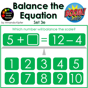 Balance the Equation Boom Cards Set 3e