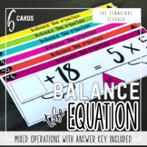 Balance the Equation Center Cards