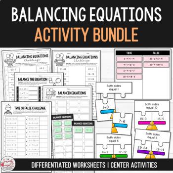 Balance the Equation - Equivalent Number Sentence Bundle Grades 1-3