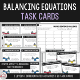 Balance the Equation - Equivalent Number Sentence Task Cards