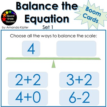 Balance the Equation FREE Boom Cards