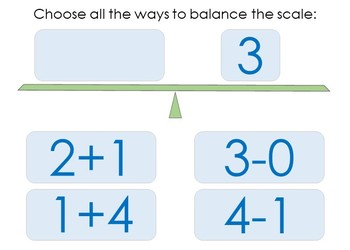 Balance the Equation Boom Cards Set 1a FREEBIE