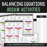 Balancing Equations - Addition & Subtraction Jigsaw Activities Grades 1-3