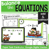 Balance the Equations Scoot Game/Task Cards- Nature Themed
