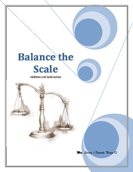 Balance the Scale Addition and Subtraction worksheets