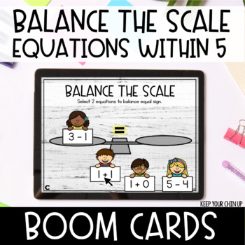 Balance the Scale: Equations Within 5 Boom Cards - Distance Learning