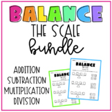 Balance the Scale Math Bundle