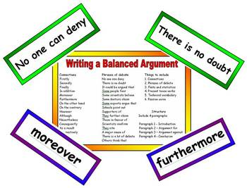 Balanced Argument Vocabulary and Resource Pack