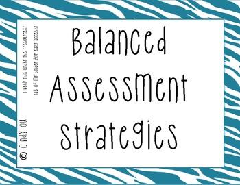 Balanced Assessment Strategies