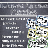 Addition, Subtraction & Mixed Operation Balanced Equation Puzzle Bundle