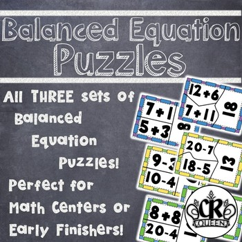 Addition, Subtraction & Mixed Operation Balanced Equation Puzzles