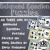 Addition, Subtraction & Mixed Operation Balanced Equation