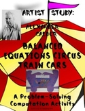 Balanced Equation Circus Trains:  An Alexander Calder Connection