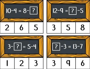 Balanced Equation Clip Cards