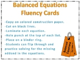 Balanced Equation Fluency Cards